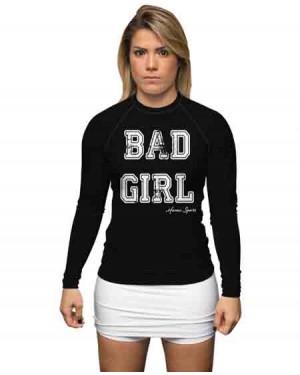 RASHGUARD INFANTIL BAD GIRL BLACK