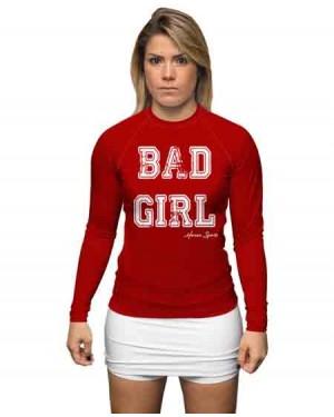 RASHGUARD INFANTIL BAD GIRL RED