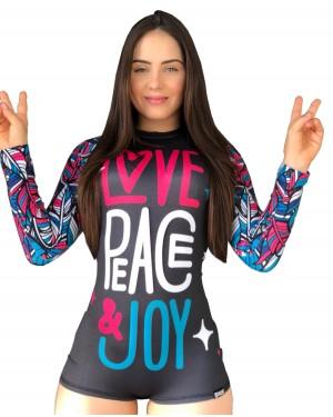 BODY FEMININO PEACE AND LOVE