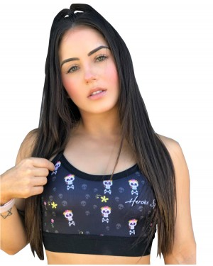 TOP CUTE SKULLFEMININO