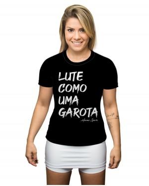 CAMISA DRY FIT FEMININO LUTE COMO UMA GAROTA PRETO