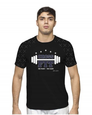 CAMISA DRY FIT MASCULINO NO PAIN NO GAIN CROSSFIT