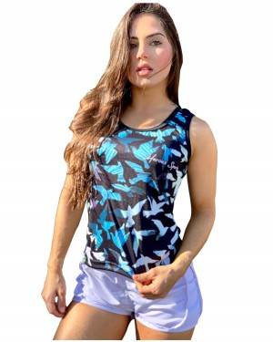 REGATA DRY FIT FEMININA BIRDS BLUE