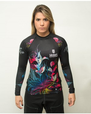RASHGUARD FEMININO TATTOO FLOWERS
