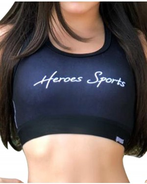 TOP FITNESS HEROES BLACK FEMININO