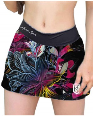 SHORT SAIA TATTOO FLOWERS FEMININO