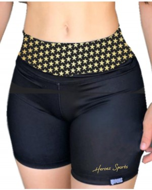 SHORT FITNESS GOLDEN STAR FEMININO