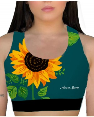 TOP FITNESS SUNFLOWER FEMININO