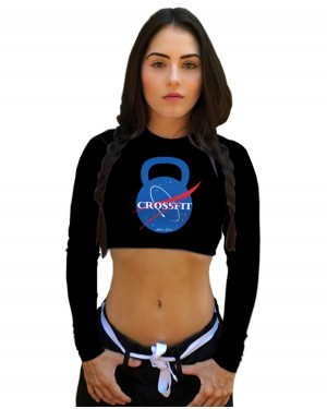 CROPPED NASA CROSSFIT FEMININO
