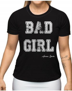 CAMISA DRY FIT FEMININO BAD GIRL BLACK