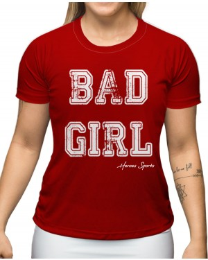 CAMISA DRY FIT FEMININO BAD GIRL RED