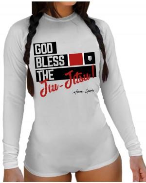 BODY FEMININO GOD BLESS THE JIU JITSU WHITE
