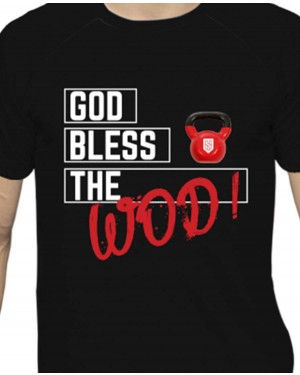 CAMISA DRY FIT MASCULINO GOD BLESS THE WOD BLACK