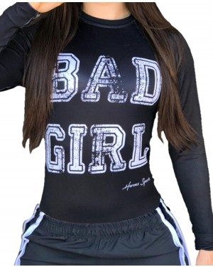 RASHGUARD FEMININO BAD GIRL BLACK