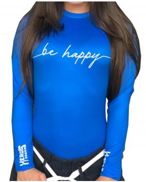 RASHGUARD FEMININO BE HAPPY BLUE