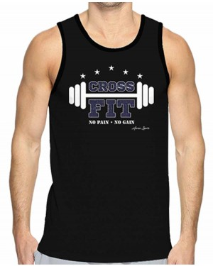 REGATA DRY FIT MASCULINO NO PAIN NO GAIN CROSSFIT