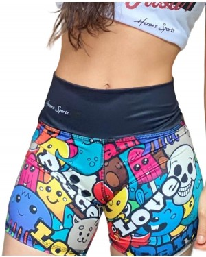 SHORT FITNESS GRAFFITTI FEMININO
