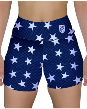 SHORT FITNESS STARS BLUE FEMININO