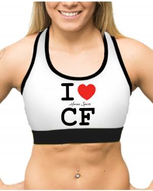 TOP FITNESS I LOVE CF BRANCO FEMININO
