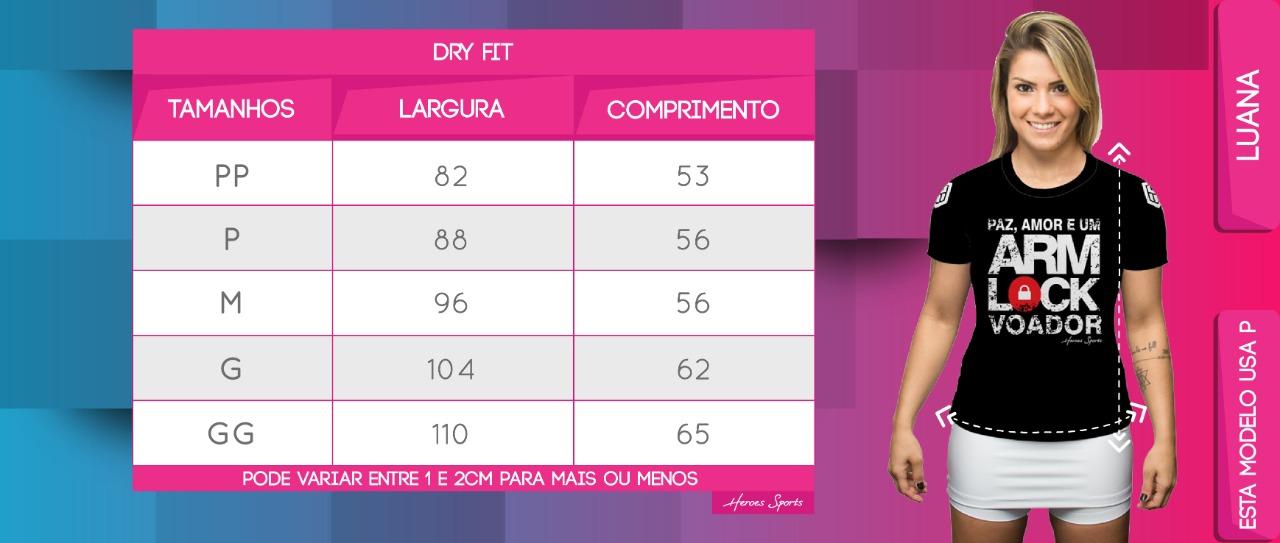 Tabela de Medidas Dry Feminina