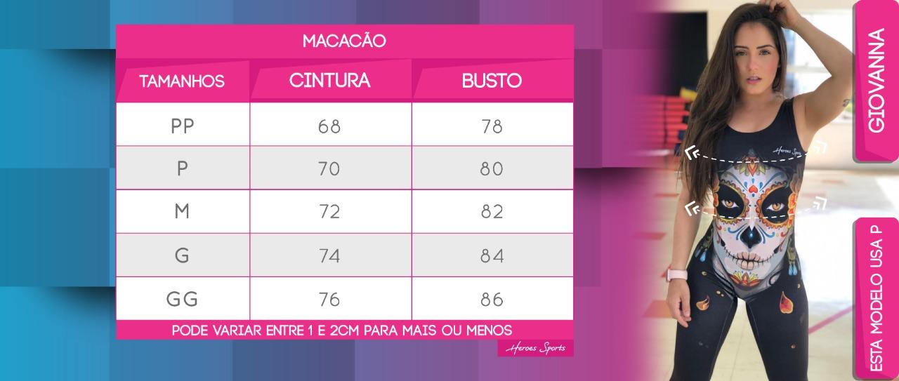 Tabela de Medidas Macacão Feminino