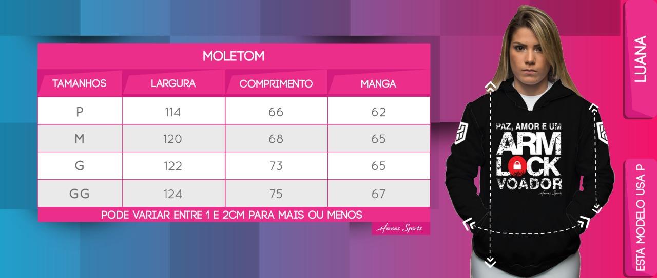Tabela de Medidas Moletom Feminino