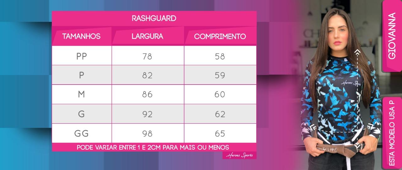 Tabela de Medidas Rash Feminina