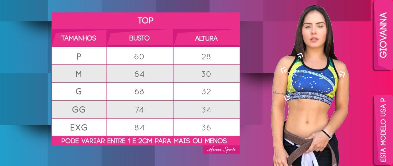 Tabela de Medidas Top Feminina